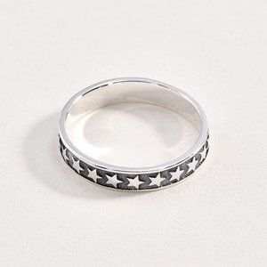 Sterling 925 Star Band Ring